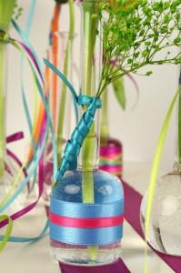 Satinband und Glas - satinband, floristik