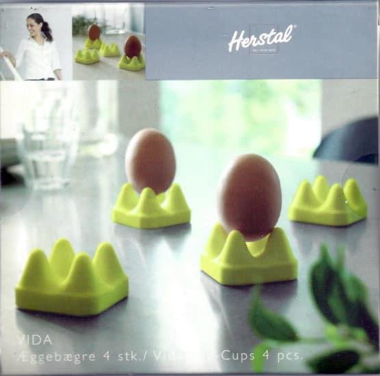 Eierbecher Vida grün von Herstal, 4 Stück - geschenke