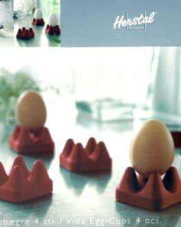 Eierbecher Vida rot von Herstal, 4 Stück - geschenke