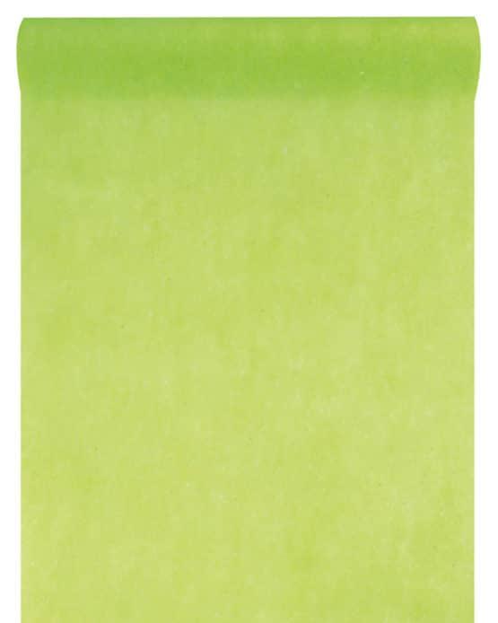 Vlies-Tischläufer BUDGET hellgrün, 30 cm - vlies-tischlaeufer