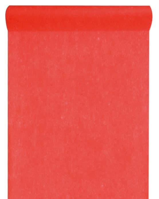 Vlies-Tischläufer BUDGET rot, 30 cm - vlies-tischlaeufer