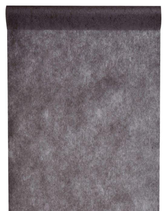 Vlies-Tischläufer BUDGET schwarz, 30 cm - vlies-tischlaeufer