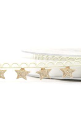 Zierlitze Sterne creme gold (800721515105)