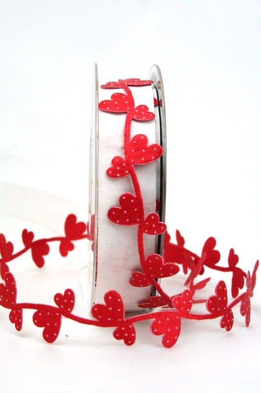 Zierlitze mit roten Herzen - hochzeitsbaender, valentinstag, muttertag