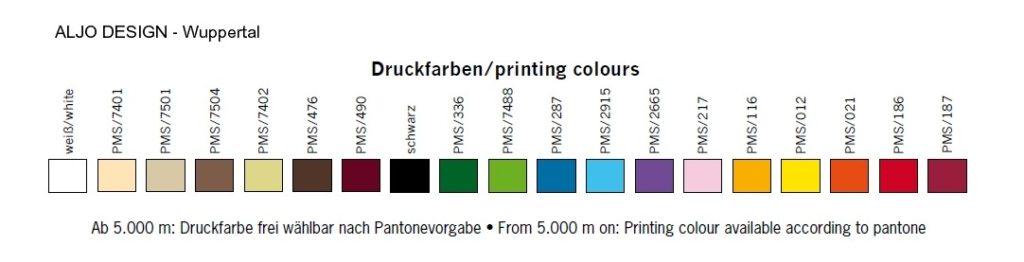 Druckfarben für personalisierte Satinbänder