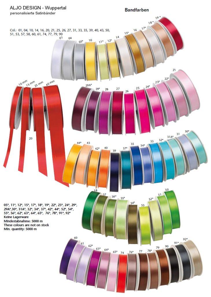 Farbauswahl Bänder -